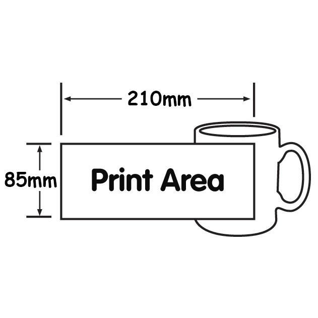Mug Printing Size